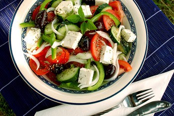 Salade paysanne aux olives