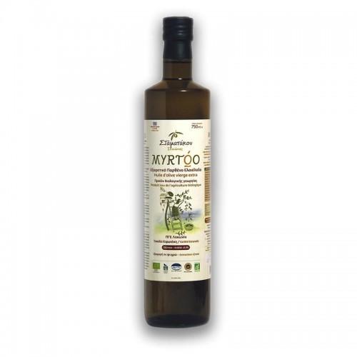 Huile d'olive MYRTOO 75 cl et 5 L BIO