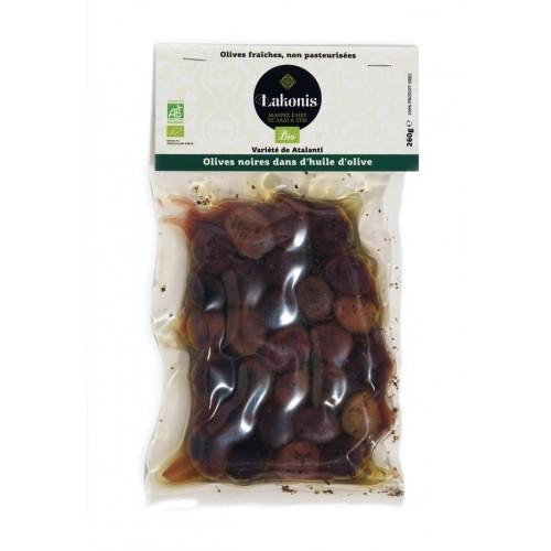 Olives grosses noires dans l'huile BIO
