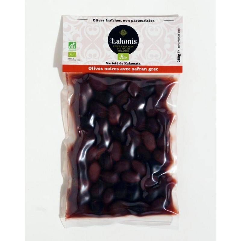Olives noires de Kalamata au safran BIO