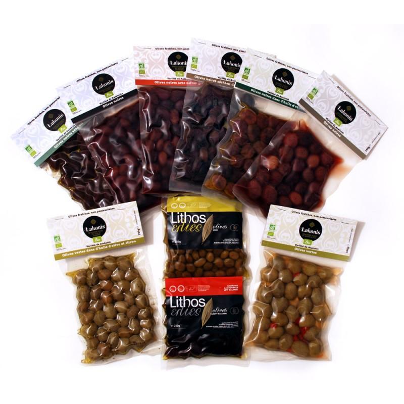 Lot de 11 olives BIO