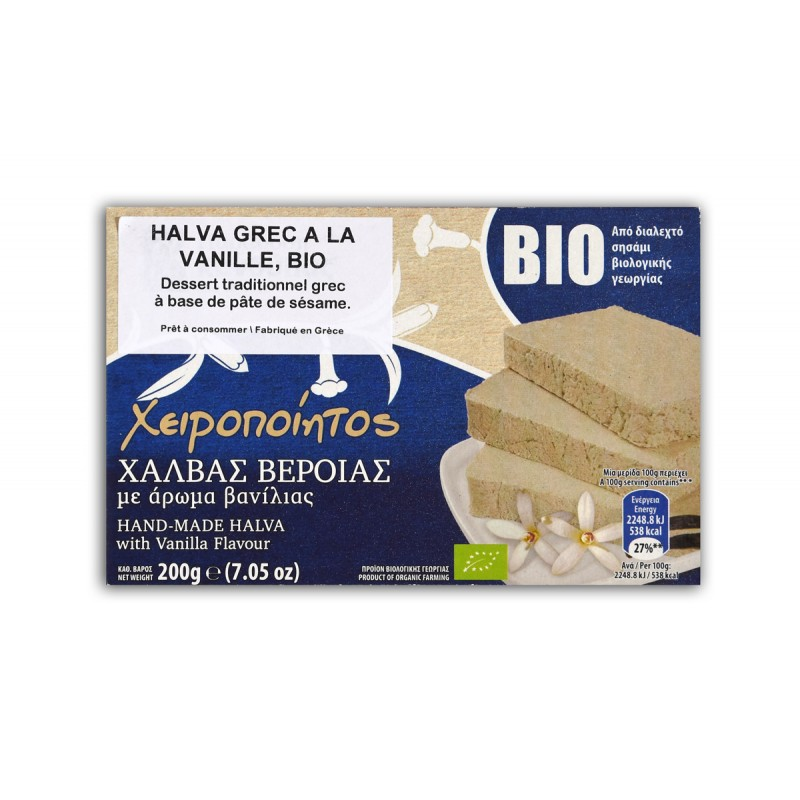 Halva grec BIO à la vanille