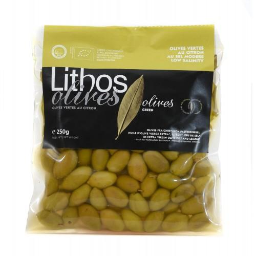 Olives vertes au citron BIO